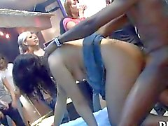 Party girls go wild with sexy strippers
