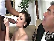 Slim brunette babe Zoe Voss gets drilled by a bbc.
