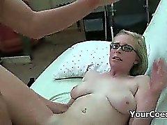Slutty Blond Freshmen Takes Cock To Join Sorority
