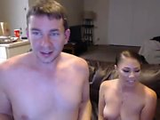 Two horny busty milf enjoying threesome fuck