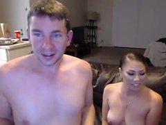Two horny busty milf enjoying threesome fuck