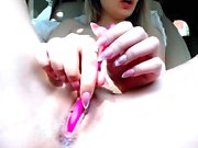 Cute Teen Chick Plays With Her Pink Pussy