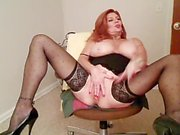 Redhead MILF smoking 120's and masturbating #1