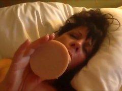 Sexy girlfriend enjoying her dildo