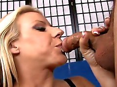 Hot blonde milf bounces on a cock