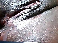 Black pussy dripping after cumshot Dora from 1fuckdatecom