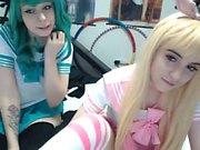 Two Blonde Amateur Girls Hot Lesbo Sex On Webcam