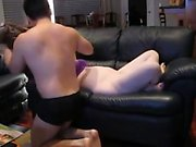 Huge boobs amateur girlfriend analyzed with fat dick on cam