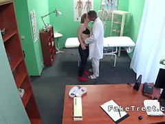 Redhead patient bangs doctor in office