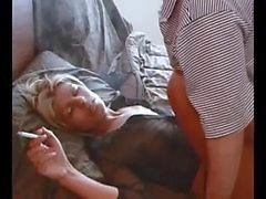 Hot Blonde Amateur Smoking Sex