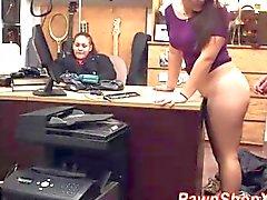 Real slut fucked hard in the office