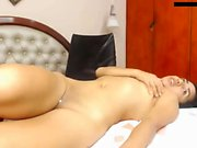 Masturbation solo on sofa
