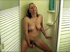 Sexy White Wife In The Shower
