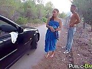 Spanish slut rides public