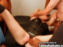 Bondage Blonde Squirter Bukkake Swallower Licks Ass