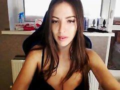 Spanking my buttocks on webcam