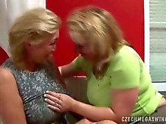 Blonde mature housewifes from czech in foursome