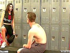 Ball busting chearleader punishes boyfriend