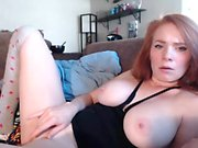 Redhead with brutal nipples and hairy