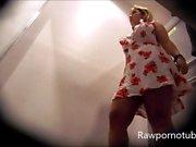 Sexy Blonde Hidden Cam In Dressing Room