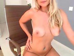 Ebony Hottie Masturbating with Sex Toys