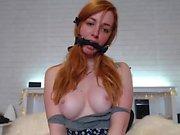 Charming panties and pussy masturbation