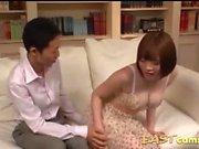 Japan gal cumshot to tits