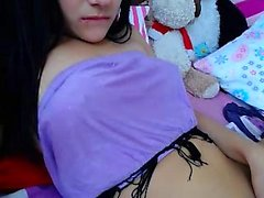 First time amateur brunette makes a solo tape
