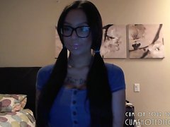 Gorgeous College Camgirl With Glasses