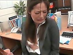 Fine jap office chick gifting her colleagues with BJ and cock ride