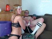 lesbian teens share a white cock cam sexy hippie teen