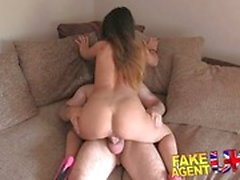 Creampie for hot petite Romanian babe