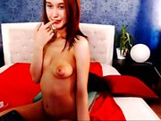 Housewife Alina toys with big erect nipples