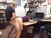 Two hot girls try to steal and get drilled by pawnkeeper