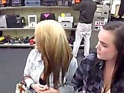 Two girls pawn their pussy in pawn shop