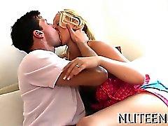 Guy licks and bonks amazing girl