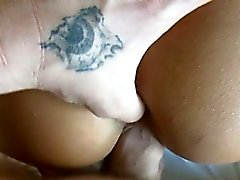 Horny slut rides a shlong