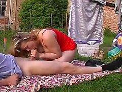 Horny teen cutie outdoor masturbation