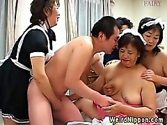 Weird asian grannies behaving badly