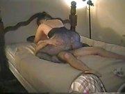 Vintage threesome porno with a blonde slut and facials
