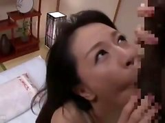Interracial cumshot lick