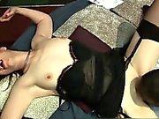 Nasty slut goes crazy sucking on a black part2
