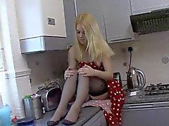 British Bleached Blonde Slag Vikki