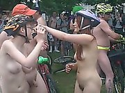 Shots of chicks and dicks on a nude beach where they romp a