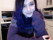 Sexy Girl Striptease At Webcam