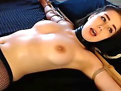 Hot Webcam Girl Gets Tied Up