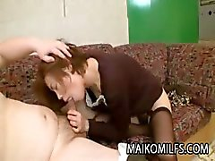 Japanese MILF Chika Ohara Gets Two Toys and A Cock