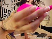 Slutty Skinny Model On Webcam Dildos Her Sexy Ass