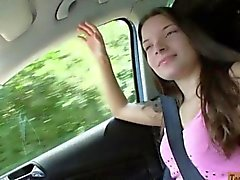 Amateur teen Anita B ripped by stranger dude in the car