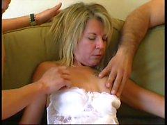 Blonde milf Stephanie takes few cocks